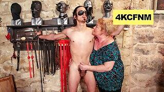 Fat Grannie Finally Lost It - Female domination