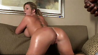Hot MILF with big, massive breasts rides BBC