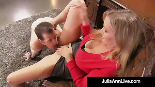Cock Teasing Cougar Julia Ann Won't Permit Sex Slave To Cum!