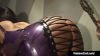 Creepy Tune & RubberDoll Fake penis Pulverizing Spandex Babe Ava Addams