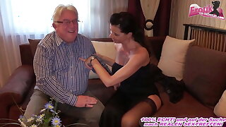 German milf with big tits fucks grandfather at escort date