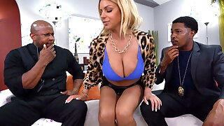 Busty MILF Brooklyn Chase Woos Tax Agents With Anal Sex