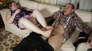 Sexy BBW sole fetish, fucking then a tasty facial cumshot cusmhot