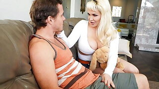 MommyBlowsBest - Thick Titty MILF Shows Off To Her Stepson