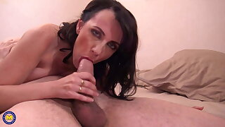 French MILF Mia gets romped in all fuck-holes