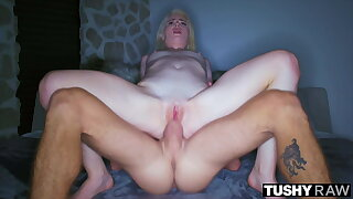TUSHYRAW, Blondie MILF craves anal all day and night
