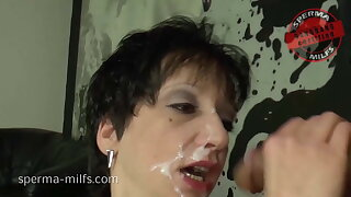 Messy Spunk Cum Party For Insane Sperma-Milf Kira
