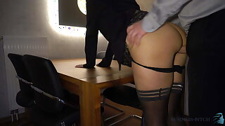 boss fucks secretary anally on the table - business-bitch