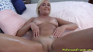 Sexy Milf Teases then Greases Up for a Pussy Pounding