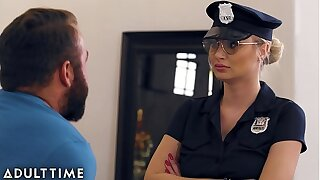 Caught Fapping - Officer Natalia Starr Caught Him With his Spear Out