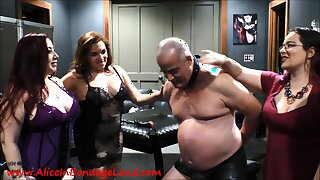 Sex Orgy FemDom Humiliation of Elderly Fart