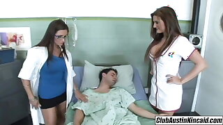 ginormous titty nurse Austin Kincaid, female doctor fucks ginormous rod