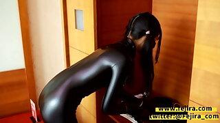 Fejira com Catsuit woman – self bondage and kink