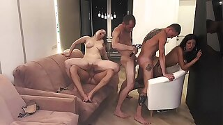 Part 3: Girls served 3 hard-ons and were covered in cum..... Katty West and Oliver Strelly