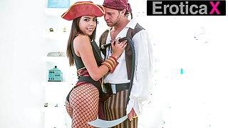 EroticaX - Rachel Rivers' Pirates Fantasy Comes True!