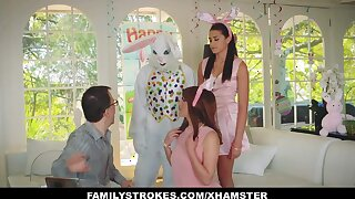 FamilyStrokes - Cute Nubile Fucked By Easter Bunny Uncle