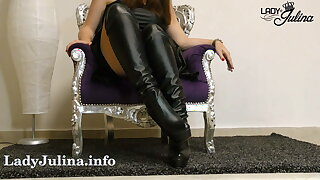 Clean the boots of your dominatrix JOI CEI - LJ Old school