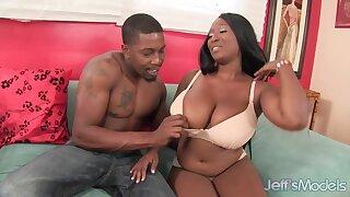 Ebony mommy Marie Leone hard sex video