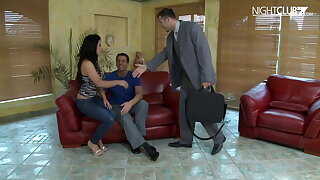 Crazy threesome for ultra-kinky German wife