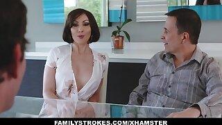 FamilyStrokes - Kinky Auntie Tears up step-nephew