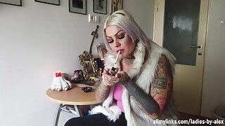Tattooed Light-haired Smokes 2