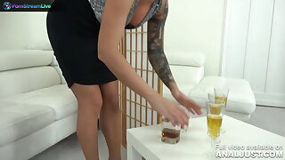 Just Anal presents - Blanche Summer and two of her friends