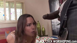 His big dark-hued cock is going to spread me to the limit
