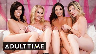 Bachelorette Party Hosts The HOTTEST Lesbian Foursome Ever!