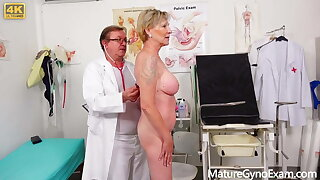 Hairy mature pussies examined by insatiable doctor