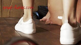 Dick under Sneakers