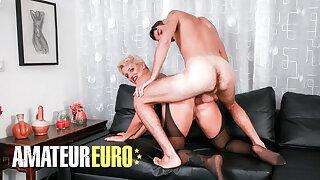 AMATEUREURO - Lucky Stud Humps Italian Mature In The Bum