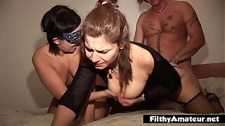 Double penetration by admirers with a nympho wife