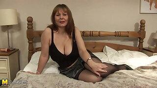 Phat breasted mature slut going wild