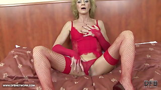 Granny unshaved honeypot getting ass fucked by big black cock