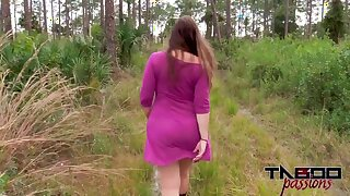 Fucking My Big Ass Stepmom Outdoors Point of view Creampie