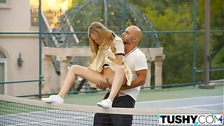 TUSHY First Anal For Tennis College girl Aubrey Star