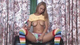 Pacinos Adventures - Tania Spice toying with her latina cooter
