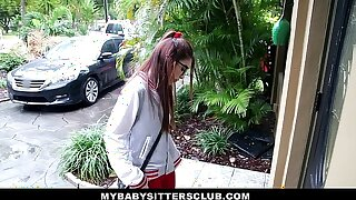 MyBabySittersClub - Petite Babysitter Pummeled By The Naughty Chief