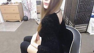 cute skinny amateur teen mega-slut dressed in ebony mastrubat www.slutcam4.me