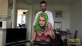 Tattooed Brit subslut punished with raunchy anal sex