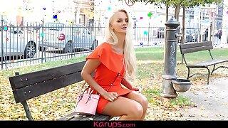 Karups - Buxom Honey Katy Sky Faux-cocks Trimmed Pussy