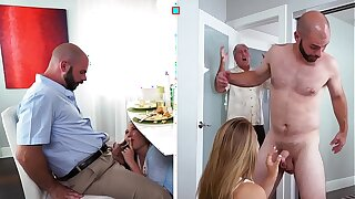 DON'T FUCK MY DAUGHTER  Nubile Alyssa Cole Gets Her Way With Daddy's Friend