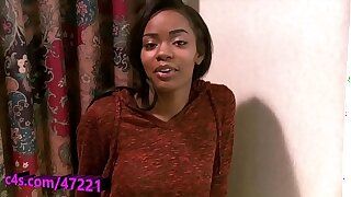 Atlanta college girl Sinnamon plays with her pretty pussy