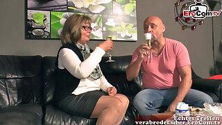 German grandma and mature woman fuck grandson
