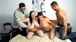 AmateurEuro -BBW GILF Hanne & Her BFF Elif O. In 4some Party