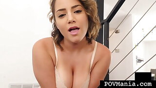 Short Haired Alix Lovell Swallows After Blowing Miles Long!