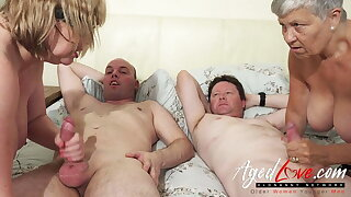 AgedLovE British Mature Group Sex and Frolicking
