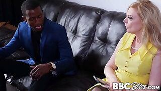 Blonde grandma Nina Hartley blows and rides rigid BBC