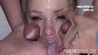 Premium Mass ejaculation -   Taylor drinks 67 huge mouthful cum