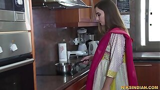 Freshly married Indian bhabhi strips her salwar and loses her virginity with devar ji